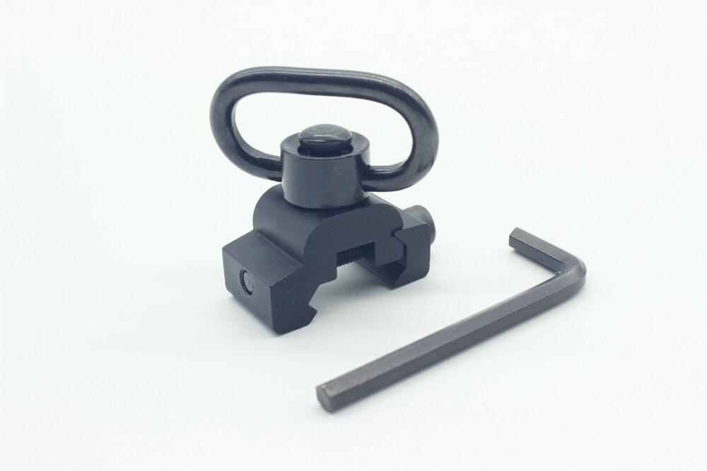 TriRock 새로운 퀵 릴리스 Detach QD 슬링 회전 부착물 1.25 ''20mm 레일 장착베이스 블랙 전술 사냥