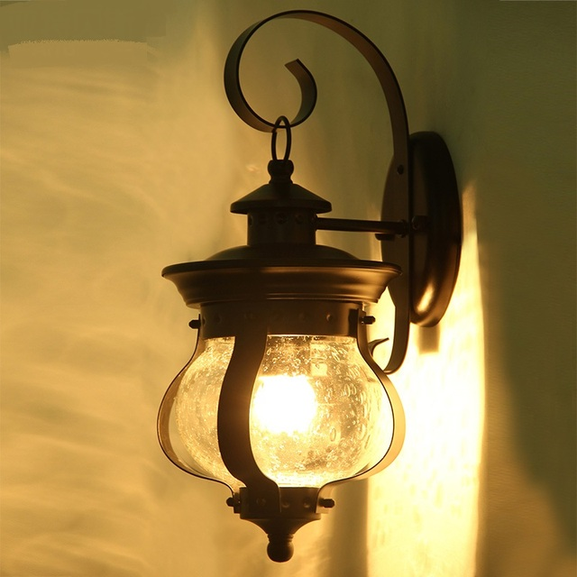 Superbe Wall Lights American Country Garden Outdoor Patio Lamp Wall Lamp Waterproof  Characteristic Iron Wall Garden Wall