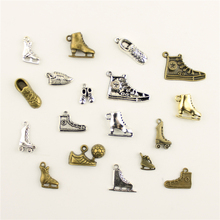 Fashion Jewelry Making Sneakers Skates Jewelry Findings Components Mix Pendant