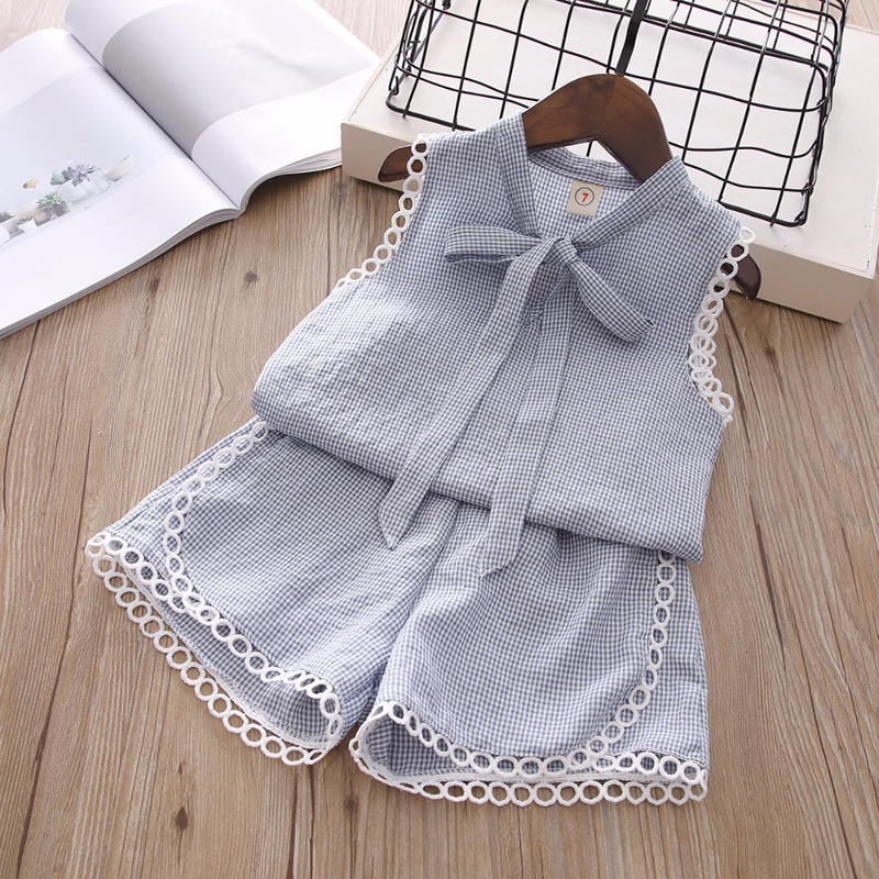 HTB1qHc4d8WD3KVjSZFsq6AqkpXaB - Humor Bear Baby Girl Clothes Hot Summer Children's Girls' Clothing Sets Kids Bay clothes Toddler Chiffon bowknot coat+Pants 1-4Y