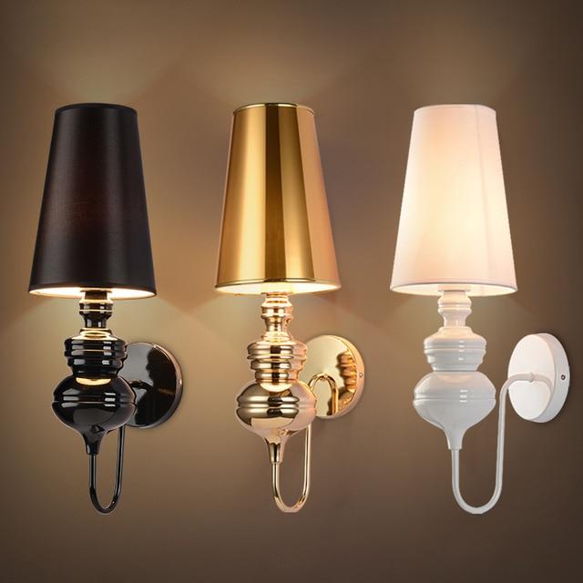 Modern brief bedroom study wall lights simple bedside lamp ...