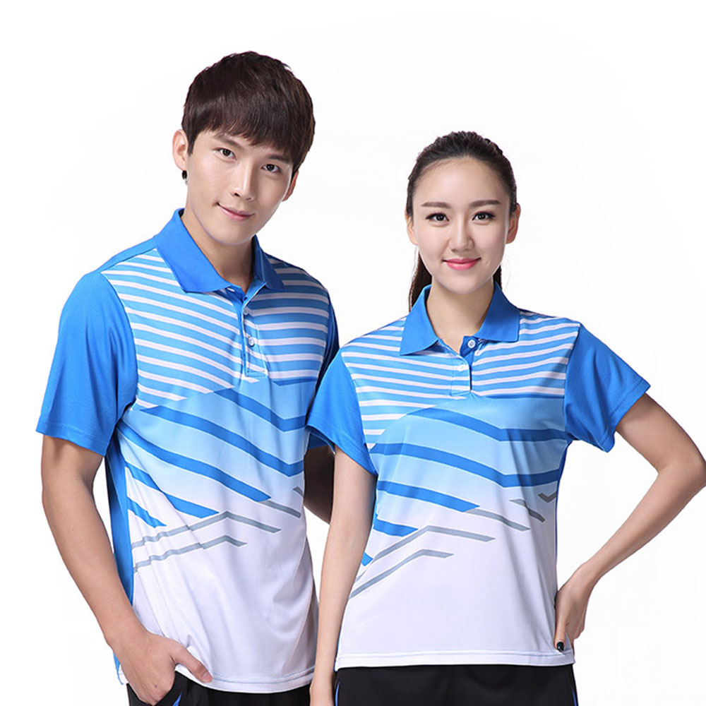 Free Print breathable quick-drying badminton shirt Men / Women , Table tennis shirt , sports Tennis t shirt female/male 3058AB