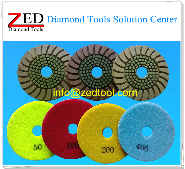 100mm Sunny Diamond Floor Polishing Pad for Granite and Concrete