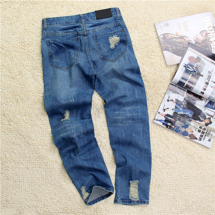 67eea651e46 Hot sale Women s ripped jeans Fashion boyfriend jeans for woman Loose hole  denim pants Free shipping-in Jeans from Women s Clothing on Aliexpress.com  ...