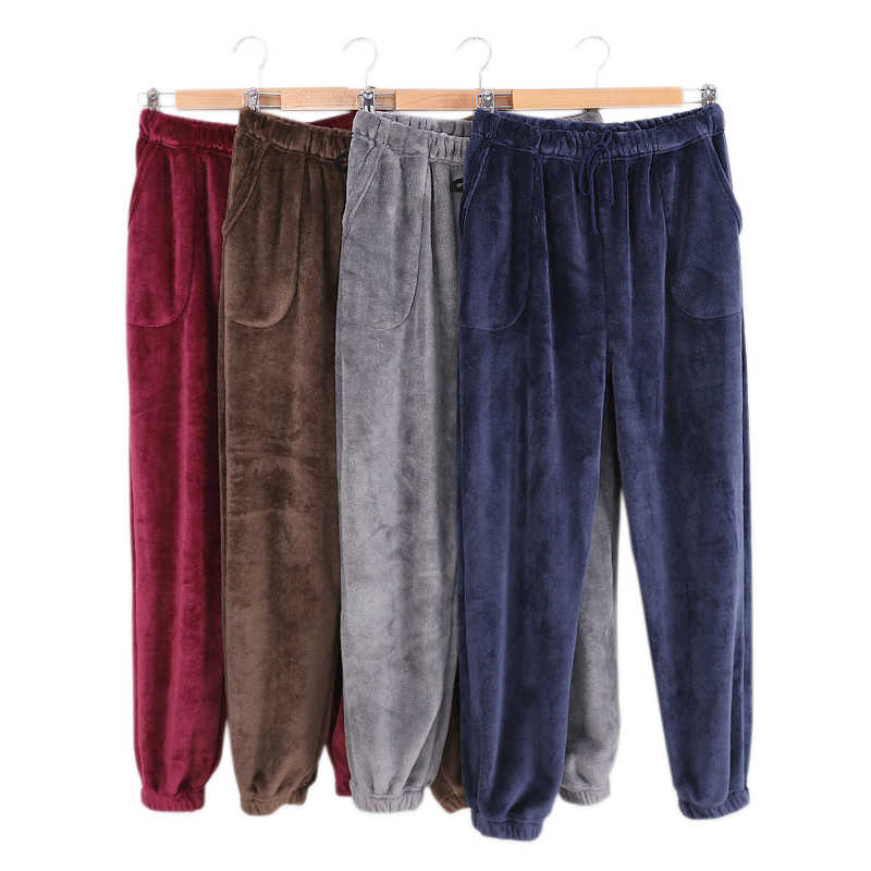 Neue Winter Flanell herren schlaf bottoms verdicken warme sheer mens pyjamas hosen komfort Hose sterne pijamas paar schlaf hose