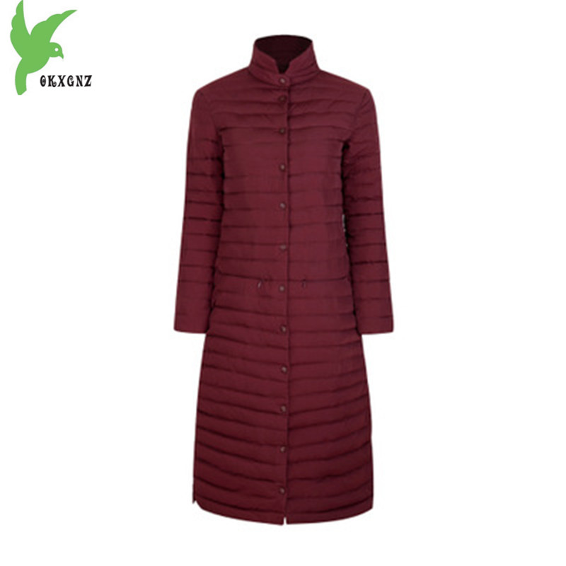 2017 Women Winter Jacket Coats Down cotton Lengthened Parkas New Fashion Boutique Light thin Warm Jackets Plus size Coats PKXGNZ 2018 new women winter down cotton jacket coats plus size 7xl long style parkas light thin hooded warm cotton jackets okxgnz 1253