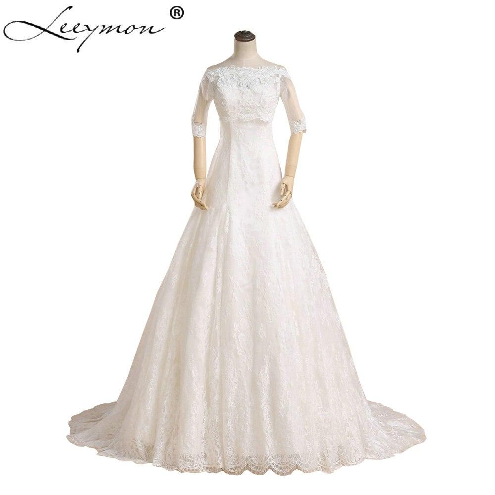 Real White Sweetheart Lace Wedding Dresses Beading Eyelash
