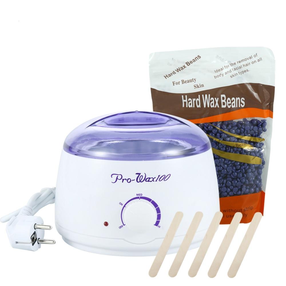 eu us plug 500ml wax heater 300g lavender hard wax beans depilatory epilator hair removal. Black Bedroom Furniture Sets. Home Design Ideas