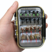 [40pcs/Set] Cost-effective Wet Dry Nymph Fly Fishing Lure Box Set Fly Tying Material Bait Fake Flies for Trout Grayling Panfish