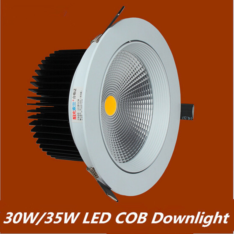2016 Newest 30W 35W New Very Bright LED COB chip downlight Recessed LED Ceiling light Spot