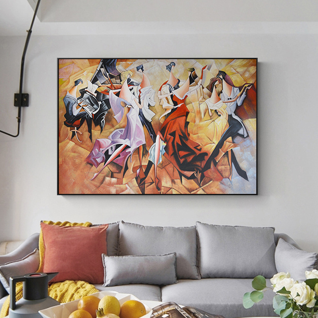 Abstract Middle Ages Dance Party Banquet Carnival Canvas Painting Poster Print Wall Art Pictures For