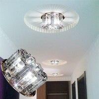LAIMAIK AC90 260V 5W Crystal Led Ceiling Lights Aisle Living Room Balcony Lamp Modern Led Lighting