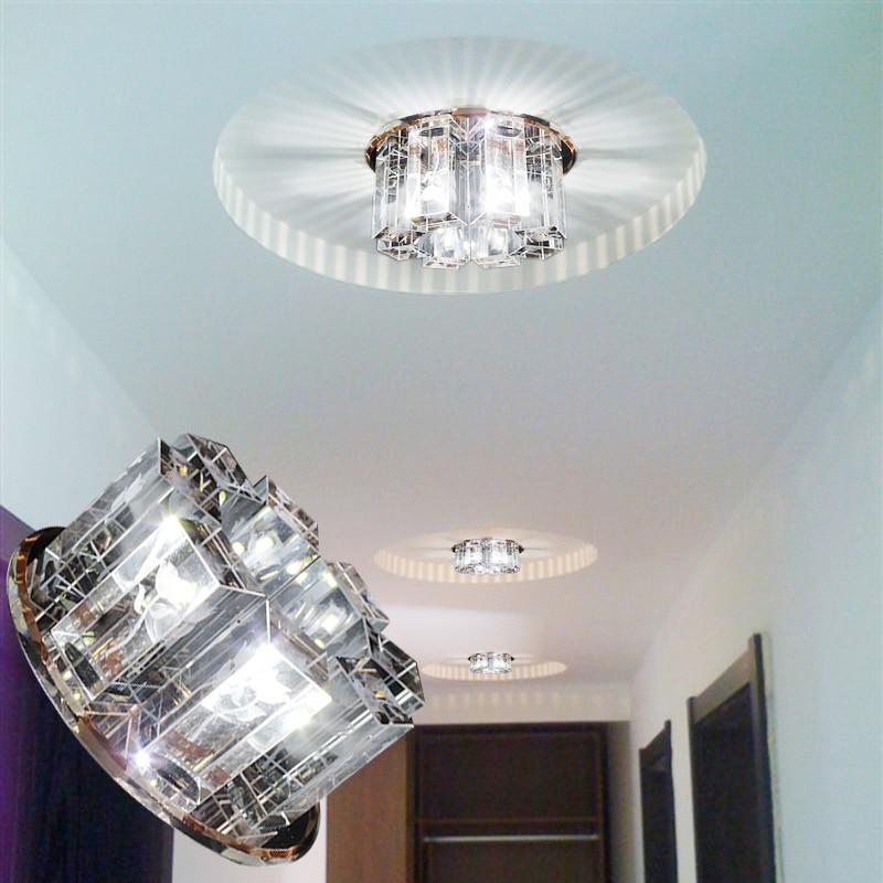 LAIMAIK AC90-260V 5 W Crystal Led plafondlampen gangpad woonkamer - Binnenverlichting