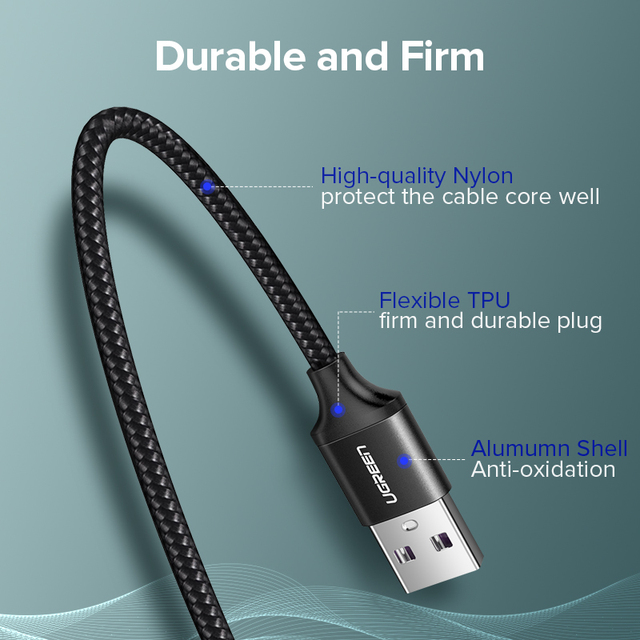 Ugreen USB C Quick Charge 3.0 5A Type C Data Cable