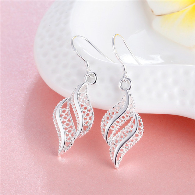 Silver drop earrings 1
