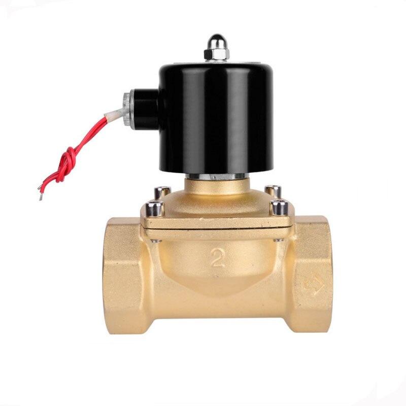Force affaires souvent fermé cuivre corps électrovanne électromagnétique DN32 DN40 DN50 eau 1.2 2 pouces 220 v 24 v en Stock