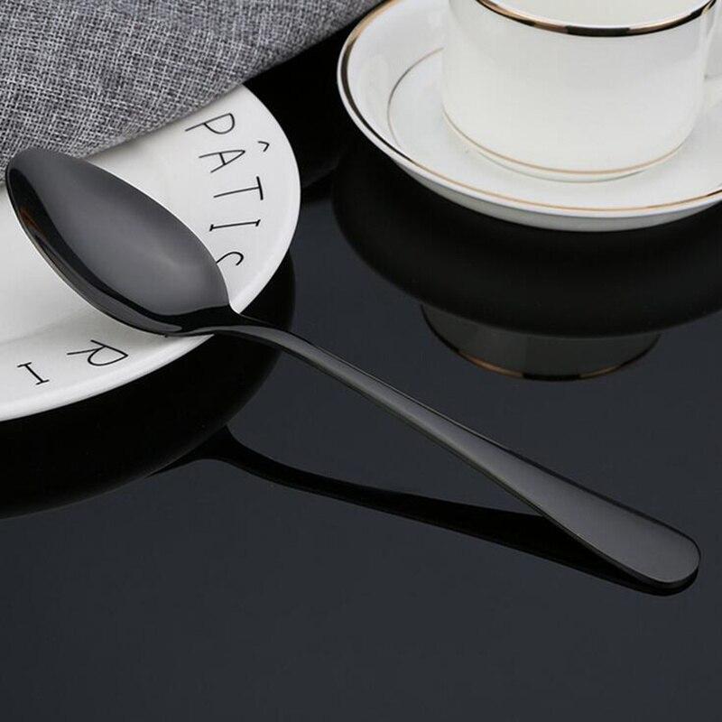 KuBac Hommi 30 teile/satz Geschirr Set Edelstahl Besteck Set Schwarz Messer Gabel Set Gold Geschirr sets Drop Shipping-in Geschirr-Sets aus Heim und Garten bei  Gruppe 3