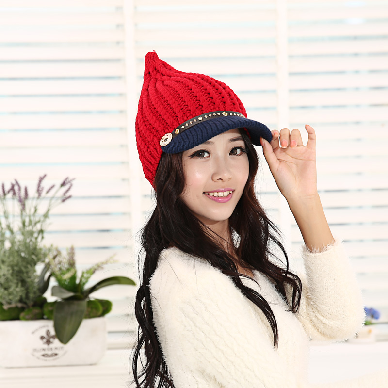 Winter hat female caps knitted hat knitted women's autumn and winter fashion hat winter