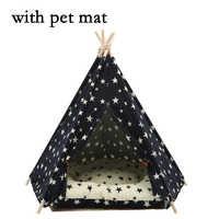 Tienda de mascotas JORMEL cama de perro Teepee gato casa portátil lavable estrella patrón 2019 moda nueva contiene estera