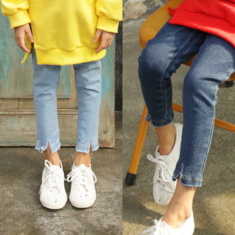 Hot Sale Girls Jeans Teens Girls Pencil Pants Vintage Elastic Waist Jeans Baby Girls Casual Cotton Stretch Skinny Jeans Ca In Pants From Mother Kids On