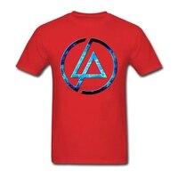 Creare Tee Shirt con Linkin Park logo per gli uomini Concerto Camicie Da Uomo di Moda t-shirt In Cotone a maniche corte Living Things