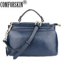 COMFORSKIN Bolsas Feminina European And American Style Women Handbags Cowhide Leather Practical Travelling Shoulder Bags 2018