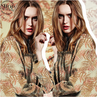 2015 new Italy heavy cotton fabric of linen thickened cloth leaves
