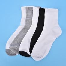 Summer Socks Men High Quality Male Business Cotton Blend Breathable Non slip Socks Boy Casual Gray