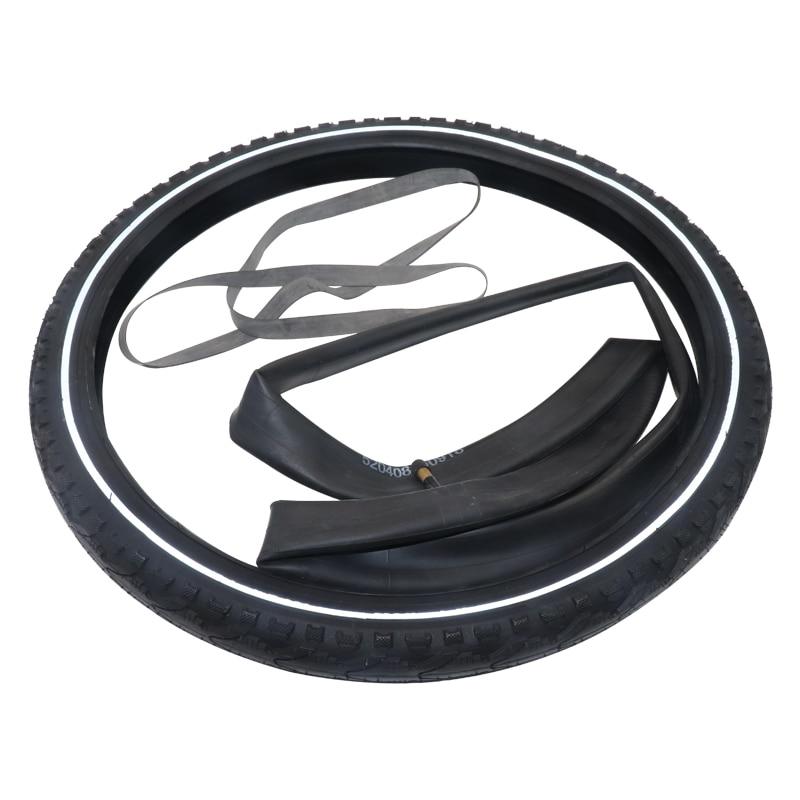 JS pneus de vélo 24*1.95 pouces vtt pneus de vélo avec chambre à air en caoutchouc pour vélo vélos ultra-légers pneus vélo accessoires vtt
