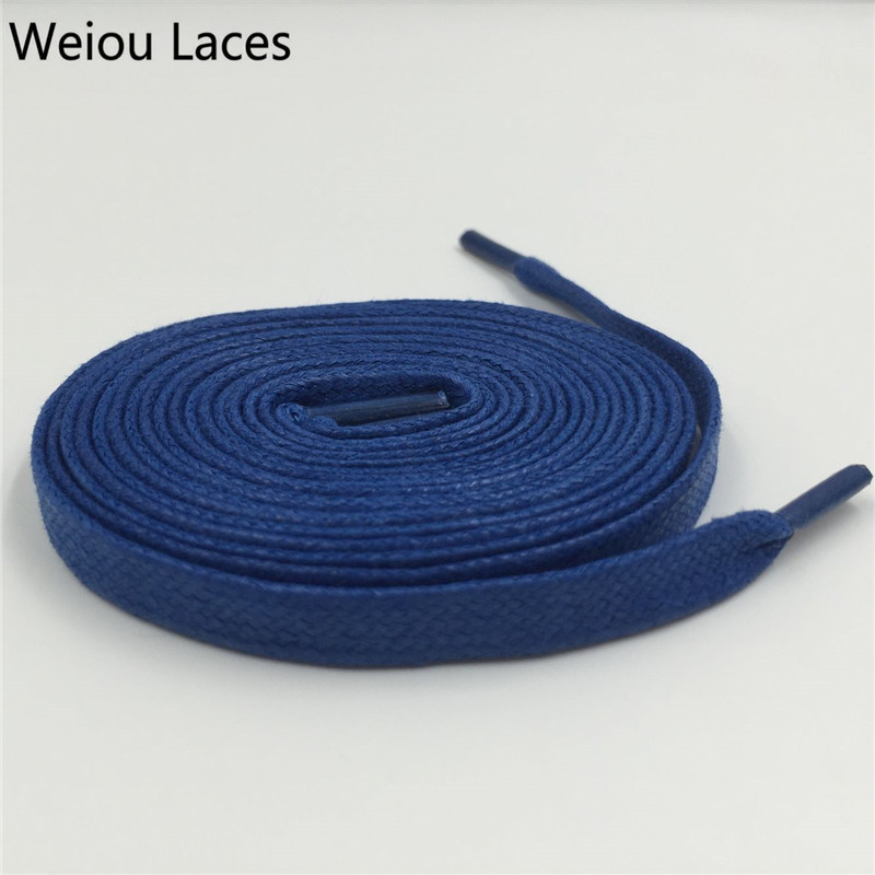 Weiou 8mm Width Waxed Cotton Athletic Shoestrings Heavy Duty Wax Shoe Laces Colored Flat Mens Dress Cotton Shoelaces For Casual weiou 8mm width waxed cotton athletic shoestrings heavy duty wax shoe laces colored flat mens dress cotton shoelaces for casual