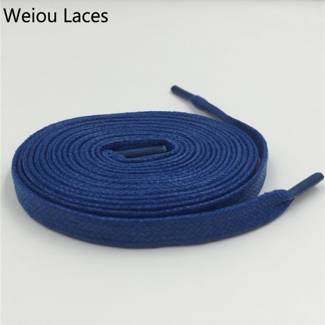 Weiou 8mm Width Waxed Cotton Athletic Shoestrings Heavy Duty Wax Shoe Laces Colored Flat Mens Dress Cotton Shoelaces For Casual