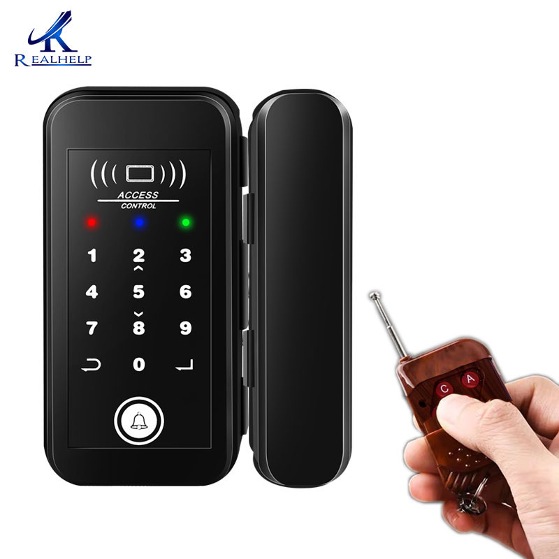 2000Users Keyless Entry Storefront Locks Office Glass Door Lock RFID Card Digital Lock Professional Glass Door Remote Smart Lock