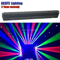 8 occhi rgb a testa mobile lser bar testa mobile per la luce della fase della discoteca del dj laser light show-in Luci con effetti speciali da Luci e illuminazione su