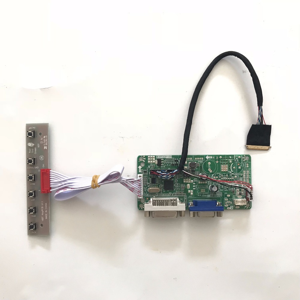 2017 Free Shipping RT2281.E5 VGA DVI LCD <font><b>Controller</b></font> <font><b>Board</b></font> DIY Kit for <font><b>B156XW02</b></font> V0 <font><b>V3</b></font> V7 15.6 inch 1366x768 LVDS LCD panel image