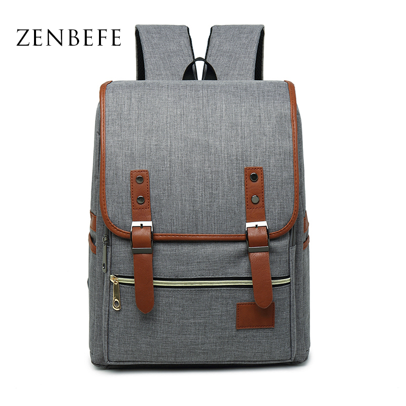 ZENBEFE Visoka kvaliteta muške naprtnjače Posteljina Laptop torba školske torbe Slobodno vrijeme College laptop ruksak ruksak Putna torba Mochila