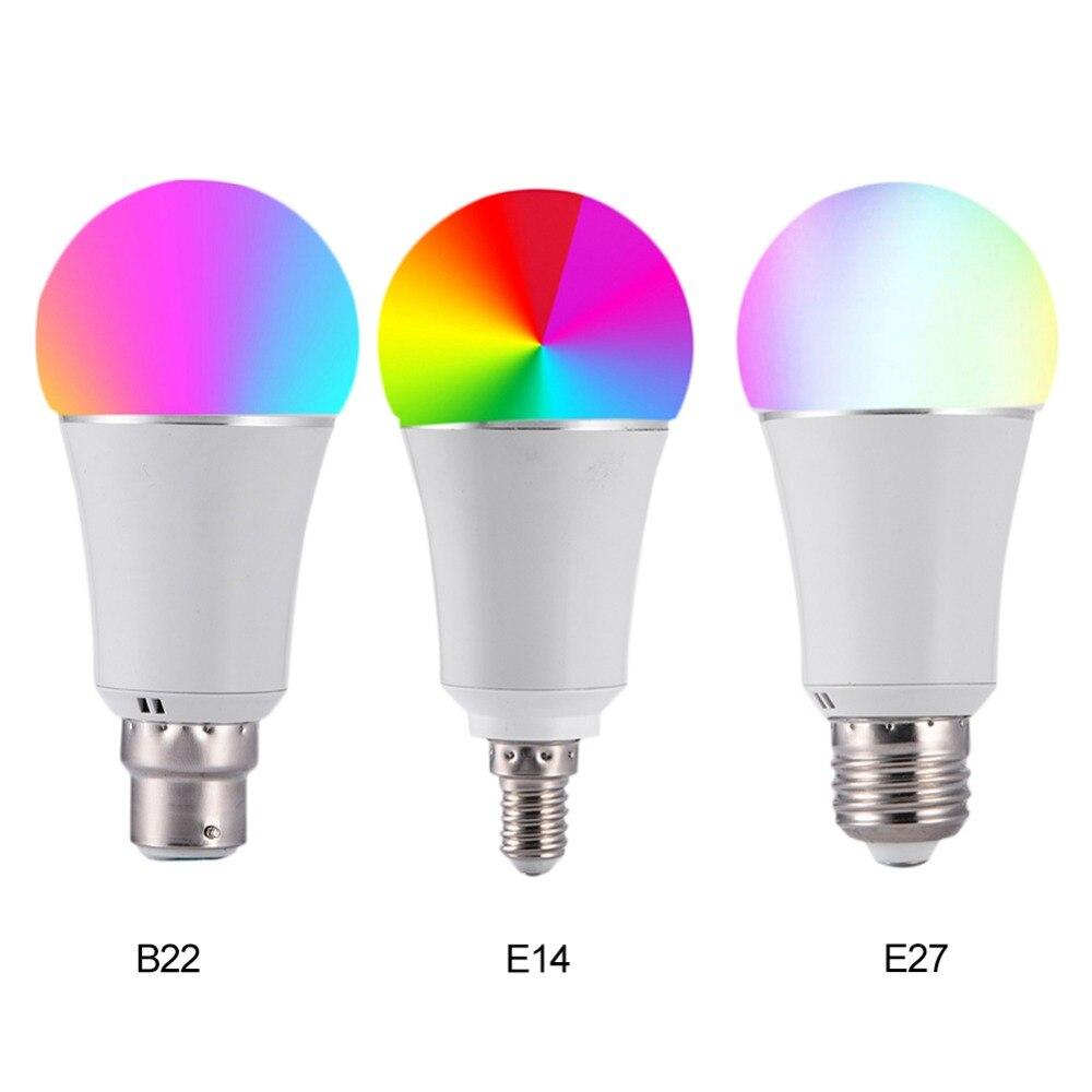 7W Wireless WiFi Smart LED Bulb E27 B22 E14 RGB Bulb Support Alexa Google Home Voice
