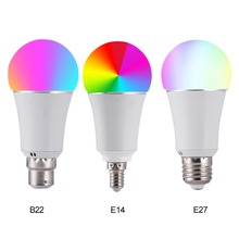7 Вт Беспроводной WiFi Smart светодио дный лампы E27 B22 E14 RGB лампы Поддержка Alexa Google домой голос Управление RGBW светодио дный лампа
