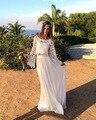 Robe de soiree 2017 Elegant Long Sleeve Lace Bohemian Wedding Dresses Plus Cheap Beach Two Pieces Bride Gown Vestido de noiva