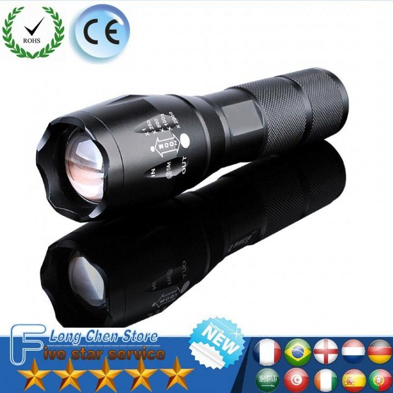 LED Rechargeable Flashlight CREE XML T6 s