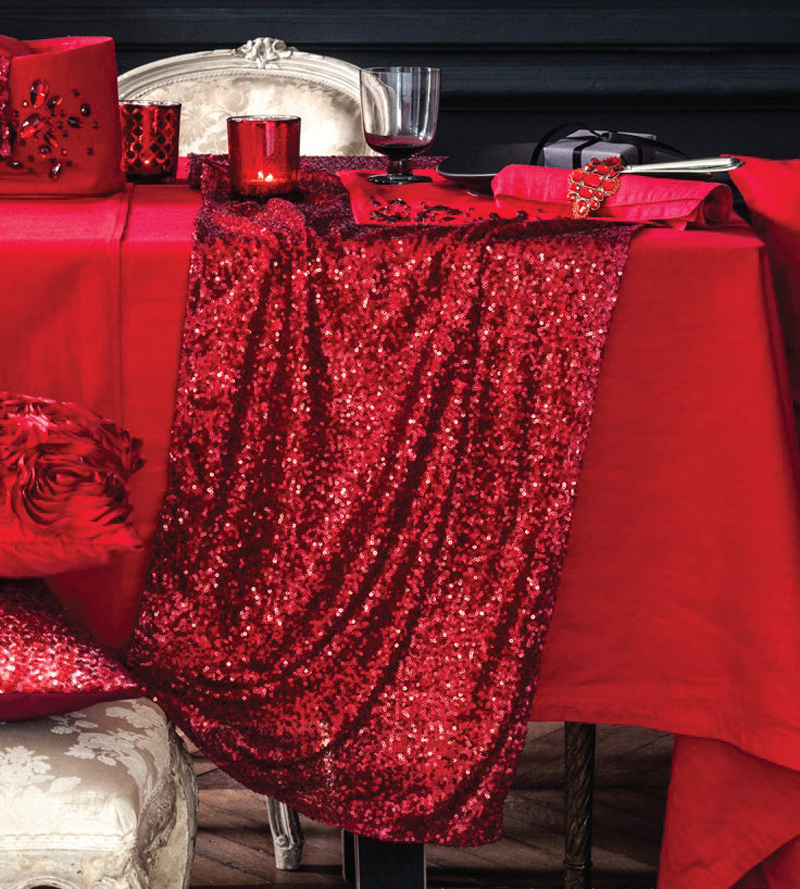 Wholesale 20pcs/lot 2017 New Wedding Party Decorations Tablecloths 30x180cm  Red Silver Sequin Table Runner Flag Cloth Covers  In Event U0026 Party From  Home ...