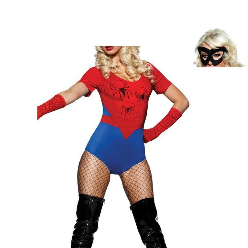 ampia selezione di design intera collezione maggiore sconto di vendita US $16.18 10% di SCONTO VASHEJIANG Amazing Spider Man Costume di Halloween  per Le Donne Carnevale Spiderman Vestito Operato Supergirl Cosplay ...