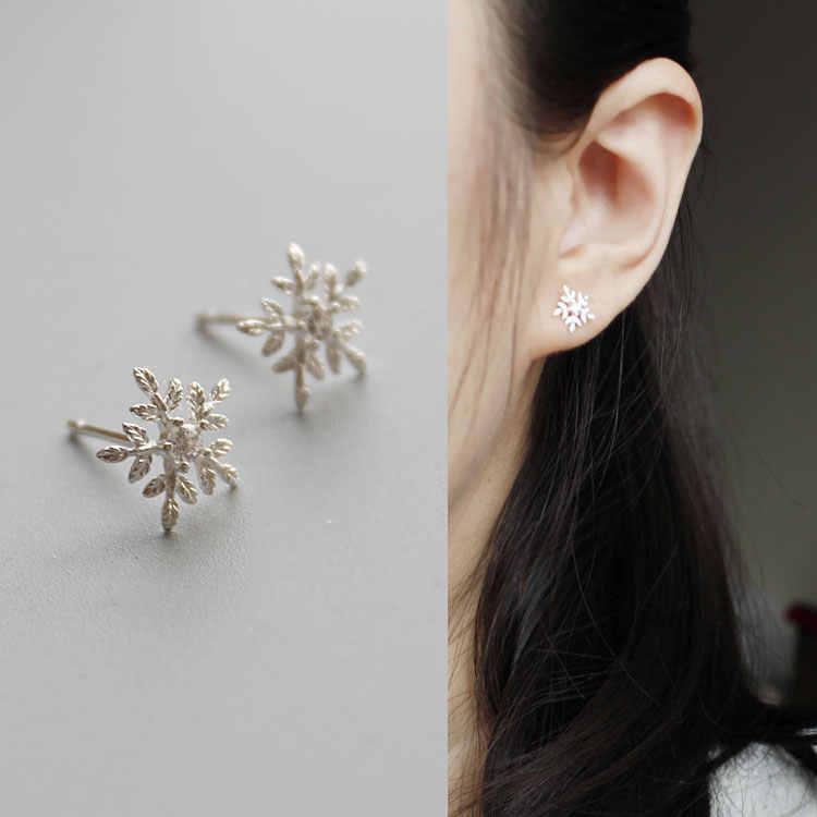 RYOUCUTE mode mariage Bijoux de mariée ensembles 925 en argent Sterling cristal flocon de neige Long colliers boucle d'oreille pour les femmes Dubai Bijoux