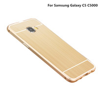 Metal Aluminum Bumper Frame Acrylic PC Rhombus Pattern Back 2 In1 Case For Samsung Galaxy