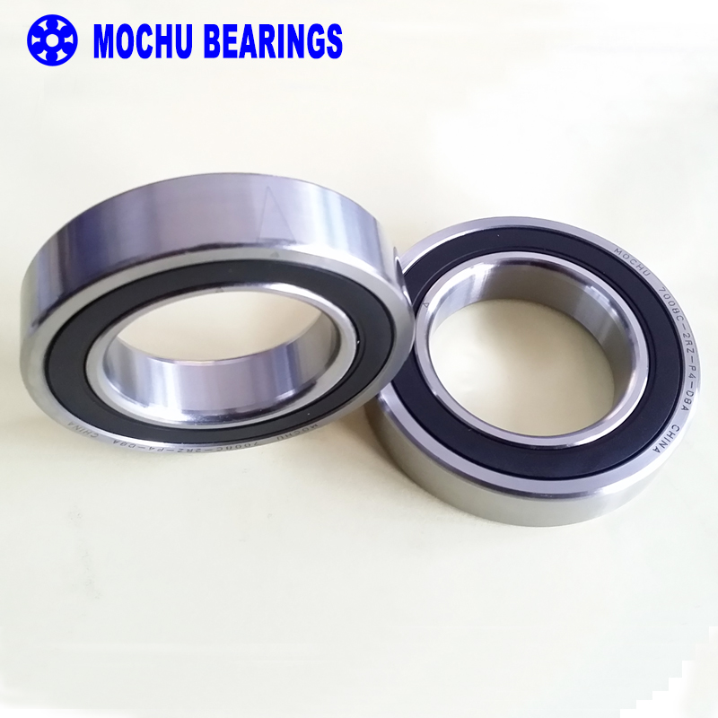 1 Pair MOCHU 7008 7008C 2RZ P4 DB A 40x68x15 40x68x30 Sealed Angular Contact Bearings Speed