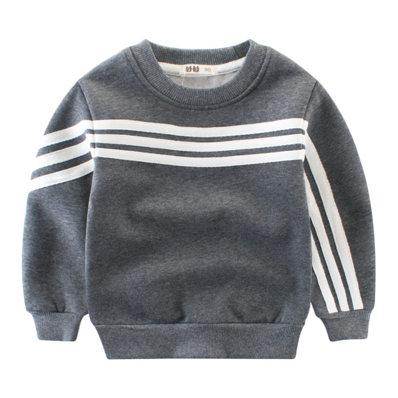 Children Thick Sweatshirts Kids Boys Grils Active Cotton Striped Long Sleeved Tops Coats Spring Autumn Boys Clothes Outwear