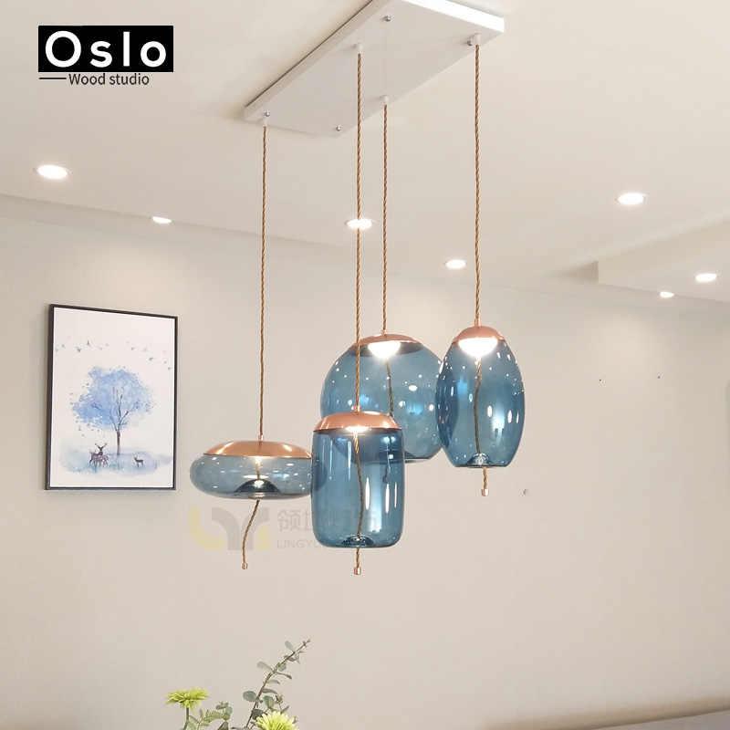 Nordic современный простой подвесной светильник ресторан бар прикроватная красивая декоративная веревка стеклянный подвесной светильник декоративное освещение