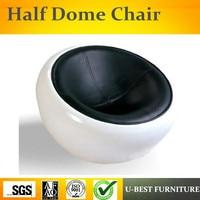 U BEST High quality Modern home furniture Half Ball Scoop Chair Half Dome Chair Egg Pod Ball Chair