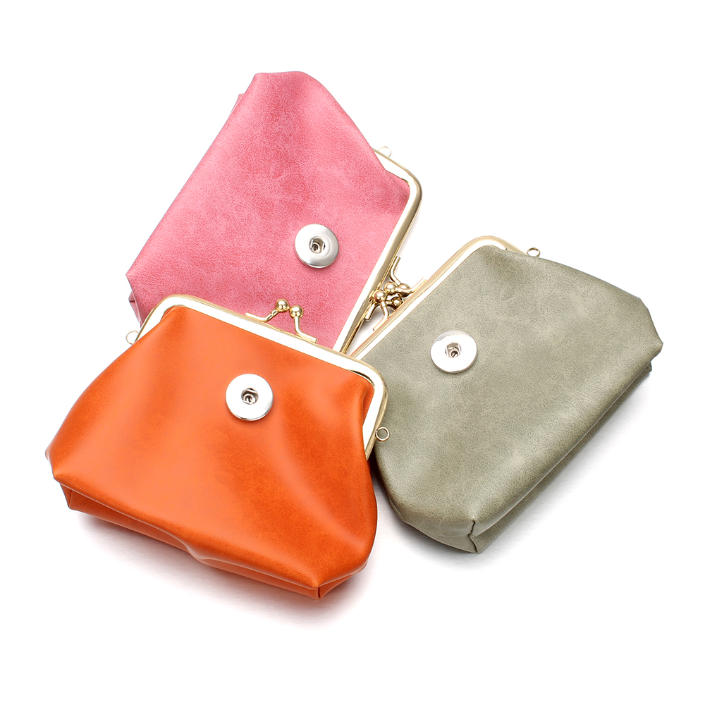 New 18MM Snap Button Jewelry For Women Bracelet High Quality PU Leather Coin Purse Snap  ...