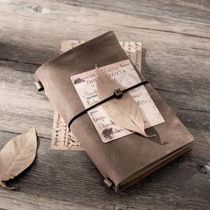 Image 2 - 15pcs del Viaggiatore notebook Dellannata del pendente tipo di bendaggio viaggiatore diario note book pianificatore Organizzatore personale creativo planner