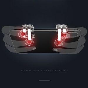 Image 4 - 1 ペア左右ゲームトリガー火災ボタン目的キーゲームパッドアクセサリーのためpubg携帯電話ゲームシューティングゲームコントローラジョイスティック